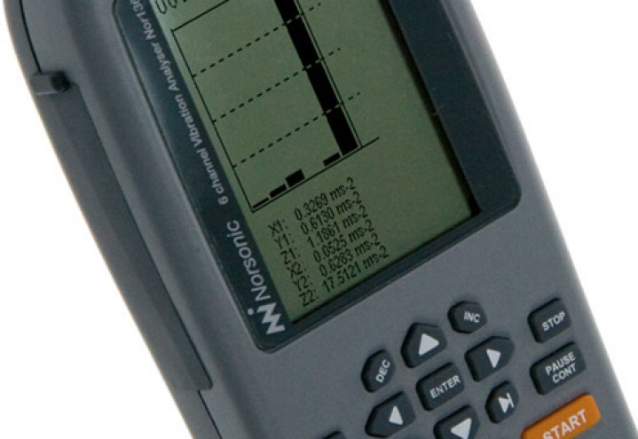 Norsonic vibration meters Nor133 and Nor136 screen