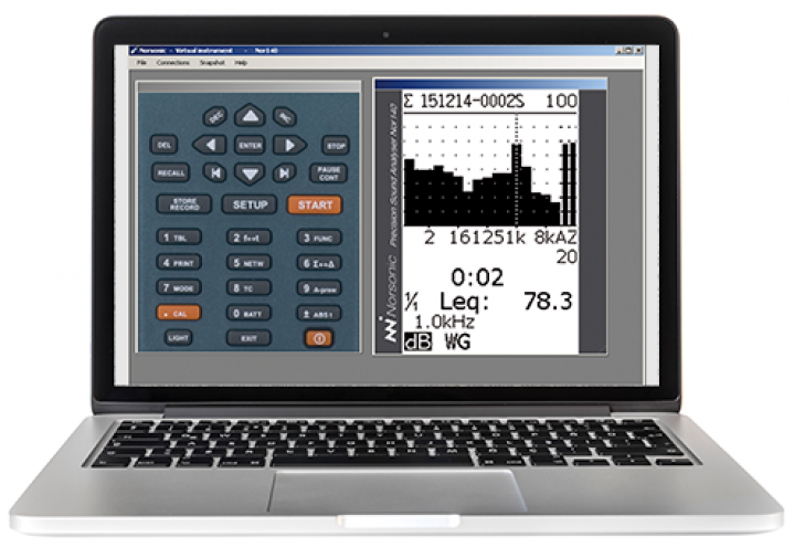 NorVirutal - program for emulating the Nor131, Nor132, Nor140 sound level meters on a PC.