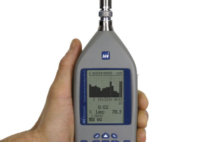 Nor131 Sound Level Meter - easy to hold!
