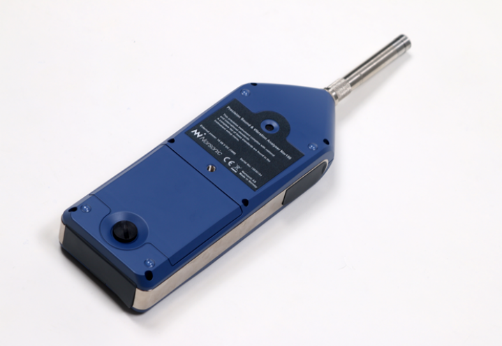 Nor150 Sound and Vibration Analyser - backside with optional built in Camera and GPS