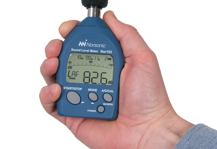 Sound Level Meter Nor103 - in hand