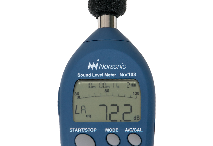 Sound Level Meter Nor103 with windscreen