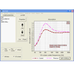 NorFlag 4.0 - Acoustic Performance Estimation software - Absorption